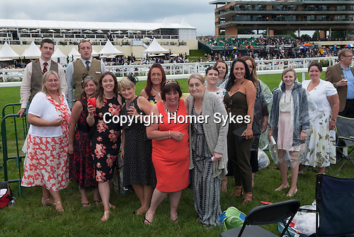 Royal Ascot horse racing Berkshire. 2016. Heath side of racecourse.