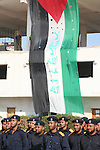 Palestinian security, members of the Hamas movement now in control of the Gaza strip, graduate in Gaza City. Hamas -- which is considered a terrorist organisation by the United States and European Union -- seized control of the Gaza Strip in a bloody takeover on June 15 ousting the secular Fatah security forces loyal to president Mahmud Abbas in the territory.