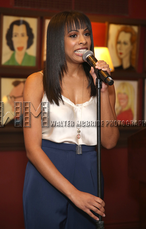 Nicolette Robinson attends Broadway Salutes 10 Years - 2009-2018 at Sardi's on November 13, 2018 in New York City.