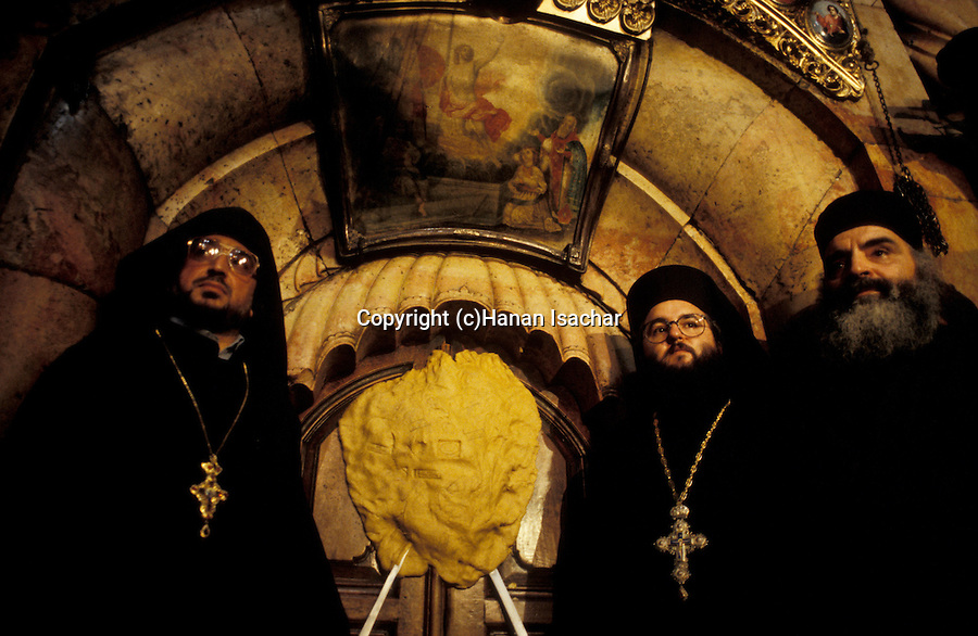 Israel, Jerusalem Old City, the Ceremony of the Holy Light at the Church of the Holy Sepulchre on Holy Saturday, Easter