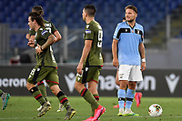 Ciro Immobile of SS Lazio looks dejected after Giovanni Simeone of Cagliari scored the goal of 0-1 during the Serie A football match between SS Lazio and Cagliari Calcio at Olimpico stadium in Rome ( Italy ), July 23th, 2020. Play resumes behind closed doors following the outbreak of the coronavirus disease. Photo Andrea Staccioli / Insidefoto