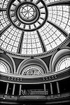 Black and white architectural abstract of dome