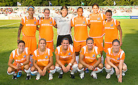 Sky Blue FC pose for photo before a WPS match against the Saint Louis Athletica at Anheuser-Busch Soccer Park, in St. Louis, MO, July 22, 2009. Athletica won the match 1-0.
