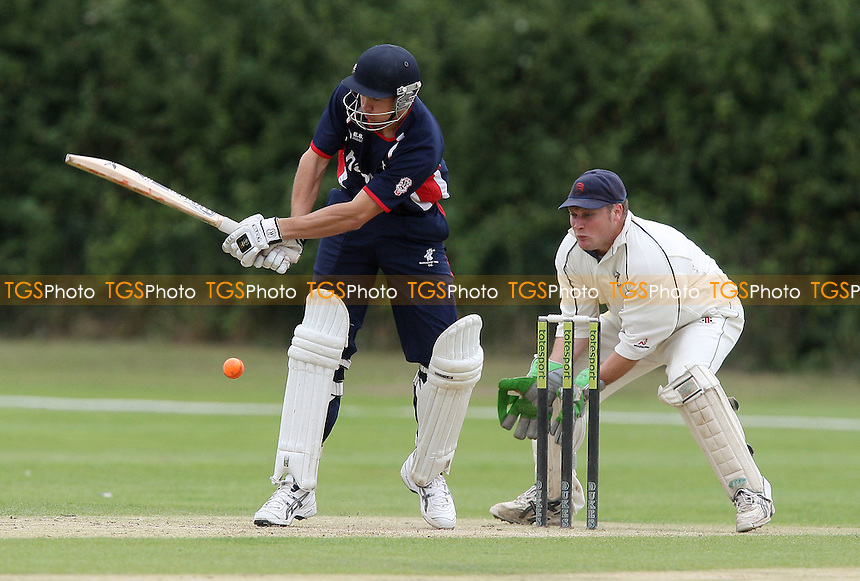 Upminster CC (white) vs Buckhurst Hill CC in the Semi-Final - Dukes Essex Twenty 20 Cricket Finals Day at Billericay Cricket Club -  15/08/10 - MANDATORY CREDIT: Gavin Ellis/TGSPHOTO - Self billing applies where appropriate - Tel: 0845 094 6026