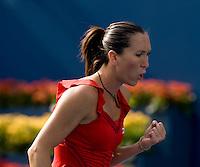 Jelena Jankovic (SRB) (5) against Yaroslava Shvedova (KAZ) in the second round. Shvedova beat Jankovic 6-3 6-7 7-6 ..International Tennis - US Open - Day 3 Wed 02 Sep 2009 - USTA Billie Jean King National Tennis Center - Flushing - New York - USA ..© Frey, Advantage Media Network, Level 1, Barry House, 20-22 Worple Road, London, SW19 4DH +44 208 947 0100..