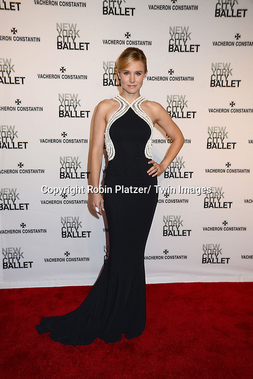 Kristen Bell  attends the New York City Ballet Spring 2014 Gala on May 8, 2014 at David Koch Theatre in Lincoln Center in New York City, NY, USA.