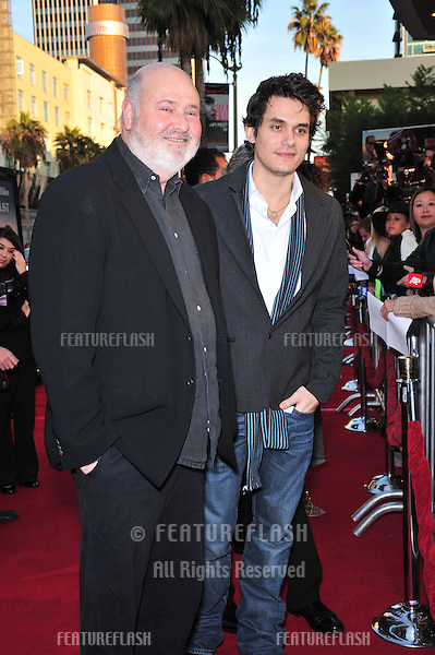 "Rob Reiner (left) & John Mayer at the Los Angeles premiere of ""The Bucket List"" at the Cinerama Dome, Hollywood..December 16, 2007  Los Angeles, CA.Picture: Paul Smith / Featureflash"