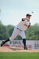 Trenton Thunder pitcher Danny Burawa (48) during game against the Binghamton Mets at ARM & HAMMER Park on July 27, 2014 in Trenton, NJ.  Trenton defeated Binghamton 7-3.  (Tomasso DeRosa/Four Seam Images)