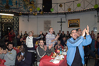Roma 26 Dicembre 2009.La comunità di Sant'Egido festeggia il Natale nel Carcere di  Regina Coeli portando doni ed un pranzo speciale offerto a  100 detenuti