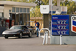 Chevron Gas Station, $4.229 per gallon and higher, Death Valley National Park, California, April 12, 2007.