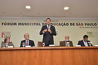 SAO PAULO, 08 DE MAIO DE 2013 - HADDAD FORUM EDUCACAO - O Prefeito Fernando Haddad durante Forum Municipal de Educação de São Paulo, no auditório da sede da Prefeitura, região central da capital, na manhã desta quarte feira, 08.       (FOTO: ALEXANDRE MOREIRA / BRAZIL PHOTO PRESS)