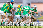 Dougie Fitzell Kilmoyley in action against Jack Goulding Ballyduff in the County Senior Hurling Final at Austin Stack Park on Sunday.