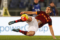 Calcio, Serie A: Roma vs Sampdoria. Roma, stadio Olimpico, 7 febbraio 2016.<br /> Roma&rsquo;s Kostas Manolas kicks the ball during the Italian Serie A football match between Roma and Sampdoria at Rome's Olympic stadium, 7 January 2016.<br /> UPDATE IMAGES PRESS/Riccardo De Luca