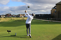 Matthew Fitzpatrick (ENG) on the 17th tee during Round 3 of the Alfred Dunhill Links Championship 2019 at St. Andrews Golf CLub, Fife, Scotland. 28/09/2019.<br /> Picture Thos Caffrey / Golffile.ie<br /> <br /> All photo usage must carry mandatory copyright credit (© Golffile | Thos Caffrey)