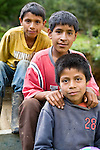 Three Guatemalan boys in the Western Highlands, Xexocom, Guatemala