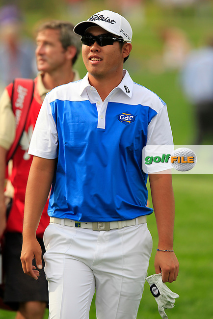 Byeong-hun An (KOR) during Sunday's Final Round of the Abu Dhabi HSBC Golf Championship 2015 held at the Abu Dhabi Golf Course, United Arab Emirates. 18th January 2015.<br /> Picture: Eoin Clarke www.golffile.ie