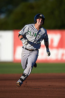 Clinton LumberKings shortstop Brock Hebert (3) running the bases during a game against the Burlington Bees on August 20, 2015 at Community Field in Burlington, Iowa.  Burlington defeated Clinton 3-2.  (Mike Janes/Four Seam Images)