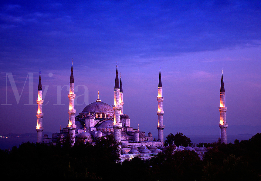 Blue Mosque of Sultan Ahmet I built between 1609 and 1619 Istanbul Turkey