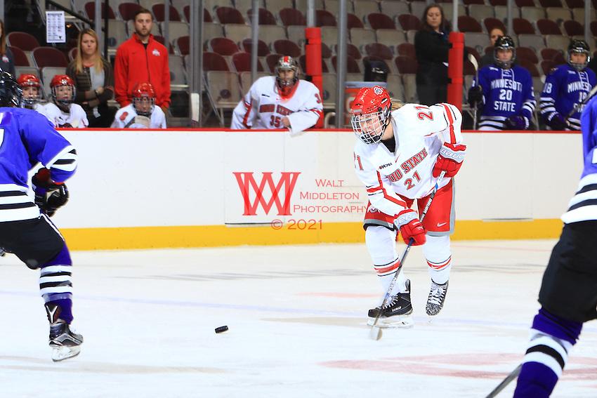 The Ohio State University women's ice hockey team defeated Minnesota State University 5-3 at the Schottstein Center. October 23, 2015.