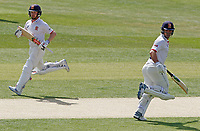 Adam Wheater (left) and Ryan ten Doeschate (right) of Essex sprint between wickets during Essex CCC vs Kent CCC, Bob Willis Trophy Cricket at The Cloudfm County Ground on 3rd August 2020