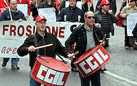 Manifestazione indetta dalla Filcams Cgil a Roma, 15 novembre 2008, in occasione dello sciopero generale dei lavoratori del terziario..Demonstrators march in occasion of the tertiary workers general strike called by the FILCAMS CGIL union in Rome, 15 November 2008..UPDATE IMAGES PRESS/Riccardo De Luca