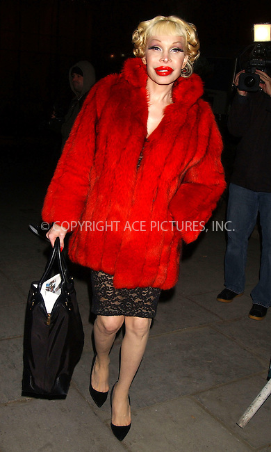 WWW.ACEPIXS.COM . . . . . ....February 6, 2007, New York City. ....Amanda Lepore attends Heatherette show during the Mercedes-Benz Fashion Week Fall 2007. ....Please byline: KRISTIN CALLAHAN - ACEPIXS.COM.. . . . . . ..Ace Pictures, Inc:  ..(212) 243-8787 or (646) 769 0430..e-mail: info@acepixs.com..web: http://www.acepixs.com