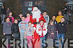 ARRIVAL: Santa Arrives at The Tin Tan Theartre Ballybunnion, on Sunday afternoon, greeting Santa were children from North Kerry, they were, Christina Falvey, Kelly Ann Walsh, Jerome O'Rourke, Jack Kennelly, Ava Carr, Shane Griffin, Michael Falvey, Sarah O'Rourke, Joyce and John Liu, Pater O'Sullivan, Donna O'Rourke, Mary O'Connor.