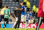 29.08.2019 Rangers v Legia Warsaw: Steven Gerrard and Alfredo Morelos