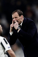 Calcio, Serie A: Juventus - Atalanta, Torino, Allianz Stadium, 14 marzo 2018. <br /> Juventus coach Massimiliano Allegri reacts during the Italian Serie A football match between Juventus and Atalanta at Torino's Allianz stadium, March 14, 2018.<br /> UPDATE IMAGES PRESS/Isabella Bonotto