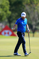 Andy Sullivan (ENG) on the 1st green during the final round at the WGC HSBC Champions 2018, Sheshan Golf CLub, Shanghai, China. 28/10/2018.<br /> Picture Fran Caffrey / Golffile.ie<br /> <br /> All photo usage must carry mandatory copyright credit (&copy; Golffile | Fran Caffrey)