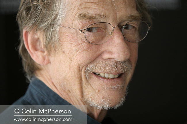 Actor John Hurt attending a photocall for this year's Michael Powell Award jury at the Point Hotel. The prize, chaired by actor John Hurt, is awarded to the best new British feature feature at the Edinburgh International Film Festival. The Festival which ran from 14th to 27th August featured films from across the world and was at the time the world's longest running film festival.