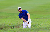 Tyrrell Hatton (Europe) on the 1st during the Singles Matches of the Eurasia Cup at Glenmarie Golf and Country Club on the Sunday 14th January 2018.<br /> Picture:  Thos Caffrey / www.golffile.ie