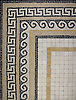 18x24 inch Greek Key Roman Africa concept board.