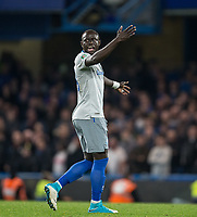 Oumar Niasse of Everton shows his frustration during the Carabao Cup round of 16 match between Chelsea and Everton at Stamford Bridge, London, England on 25 October 2017. Photo by Andy Rowland.