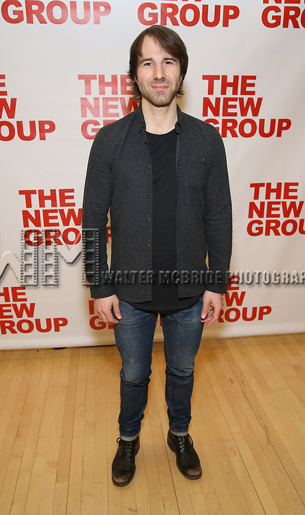 Alex Hurt attends the photo call for The New Group's World Premiere of Hamish Linklater's 'The Whirligig'  at the New 42nd Street Studios on April 3, 2017 in New York City.