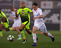 Pictured: (L-R) follows Daniel James of Swansea City Monday 15 May 2017<br />