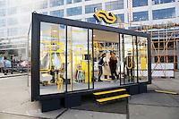 Nederland Eindhoven 2016. DDW. Dutch Design Week. Strijp-S. Cabine van de NS.  Foto Berlinda van Dam / Hollandse Hoogte