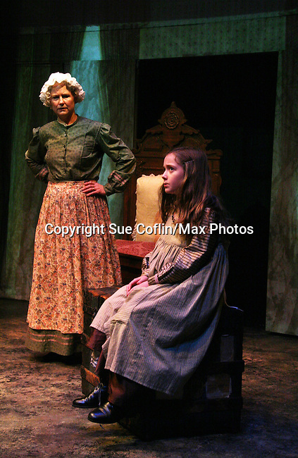"""Cat Guthrie and Isabella Convertino as Philipstown Depot Theatre presents The Secret Garden on November 15, 2009 in Garrison, New York. The musical The Secret Garden is the story of """"Mary Lennox"""", a rich spoiled child who finds herself suddenly an orphan when cholera wipes out the entire Indian village where she was living with her parents. She is sent to live in England with her only surviving relative, an uncle who has lived an unhappy life since the death of his wife 10 years ago. """"Archibald's son Colin"""", has been ignored by his father who sees Colin only as the cause of his wife's death.This is essentially the story of three lost, unhappy souls who, together, learn how to live again while bringing Colin's mother's garden back to life. (Photo by Sue Coflin/Max Photos)........"""