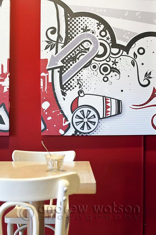 Interior of Bang Espresso bar.  Cairns, Queensland, Australia