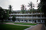 The former high school, Tuol Sleng, was a prison for the Khmer Rouge, where just over a million people died, in Phnom Penh, Cambodia.