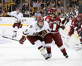 Pat Mullane (BC - 11), Luke Greiner (Harvard - 24) - The Boston College Eagles defeated the Harvard University Crimson 6-0 on Monday, February 1, 2010, in the first round of the 2010 Beanpot at the TD Garden in Boston, Massachusetts.