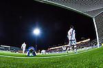 S&ouml;dert&auml;lje 2014-04-07 Fotboll Superettan Assyriska FF - Hammarby IF :  <br /> Assyriskas m&aring;lvakt Robin Malmkvist och Assyriskas David Durmaz deppar vid m&aring;let efter att Hammarbys Fredrik Torsteinb&ouml; Torsteinb&oslash; gjort 1-0 f&ouml;r Hammarby <br /> (Foto: Kenta J&ouml;nsson) Nyckelord:  Assyriska AFF S&ouml;dert&auml;lje Hammarby HIF Bajen depp besviken besvikelse sorg ledsen deppig nedst&auml;md uppgiven sad disappointment disappointed dejected remote remotekamera
