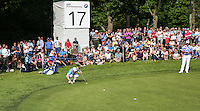 Danny Willett (ENG) missing par putt on the 17th during Round Three of the 2016 BMW PGA Championship over the West Course at Wentworth, Virginia Water, London. 28/05/2016. Picture: Golffile   David Lloyd. <br /> <br /> All photo usage must display a mandatory copyright credit to © Golffile   David Lloyd.
