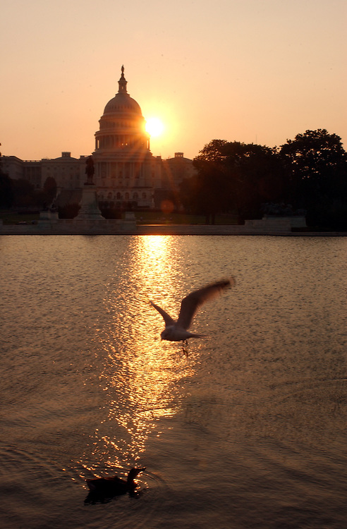 Capitol4_091102 -- Sunrise at the U.S. Capitol on the one year anniversary of the terrorist attacks on New York and the Pentagon.