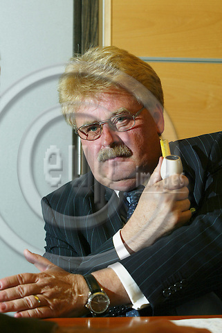 BRUSSELS - BELGIUM - 18 OCTOBER 2005 -- German MEP Elmar BROK, Chair of the EP Foreign Committee.  PHOTO: ERIK LUNTANG / EUP-IMAGES..