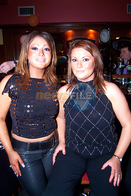 Melissa and Leona Murtagh at the Navan Sliver Band,s 60th Anniversary, in the Pitch and Putt Club...Pic Tony Campbell/Newsfile