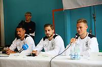 Sandro Wagner (Deutschland Germany), Kevin Trapp (Deutschland Germany), Joshua Kimmich (Deutschland, Germany) - 07.06.2017: Deutsche Nationalmannschaft besucht St. Petri Schule in Kopenhagen