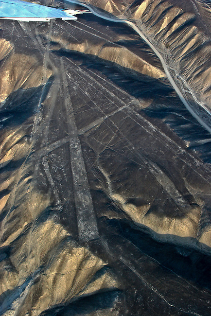 NASCA LINES-TRAPEZOIDS-IGENIO VALLEY IN BACKGROUND