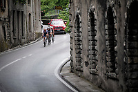 (eventual) stage winner Damiano Cima (ITA/Nippo - Vini Fantini) is part of the day's breakaway together with Nico Denz (DEU/AG2R-La Mondiale) & Mirco Maestri (ITA/Bardiani - CSF)<br /> <br /> Stage 18: Valdaora/Olang to Santa Maria di Sala (222km)<br /> 102nd Giro d'Italia 2019<br /> <br /> ©kramon