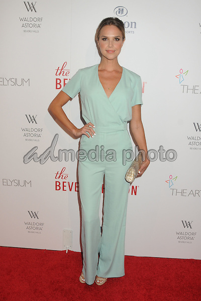 21 August 2015 - Beverly Hills, California - Arielle Kebbel. The Beverly Hilton 60th Anniversary Party held at The Beverly Hilton Hotel. Photo Credit: Byron Purvis/AdMedia